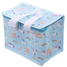 Kids Lunch Cool Bag Insulated Thermal Lunch Bag Cooler Box Storage With Handles #KidsLunchCoolBag