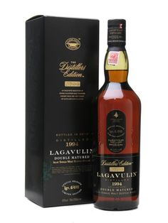 Lagavulin Distillers Edition, fine single malt scotch finished in Pedro Ximenez casks. Outstanding