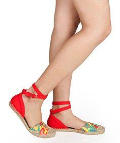 NEW Fashion Tie Up Wrap Around Flat Espadrille Sandals RED (10) Room Of Fashion http://www.amazon.com/dp/B00YT9KDRI/ref=cm_sw_r_pi_dp_-jvSwb1C1K02D