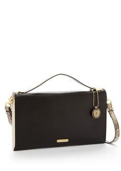 Bags · Rina Clutch Leather clutch  Features a colorblock design  Single  flat carry handle with hanging 5cd91ef25296f
