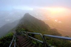 27 Surreal Places To Visit Before You Die | BuzzFeed — Haiku Stairs of Oahu in Hawaii (I look at this on my drive to school every morning!)