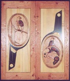 Freedom, Vision and Long Life -- Doors Carved by Herb Rice