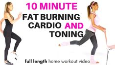 GET IN SHAPE AT HOME - FAT BURNING HOME CARDIO EXERCISE VIDEO - WITH A TONING WORKOUT FOR WOMEN - YouTube