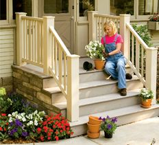 DIY:  Entry Deck & Steps Tutorial - excellent post shows how to build this awesome entryway!