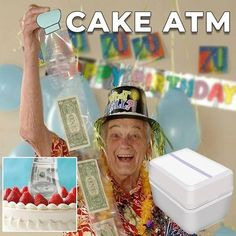 When your birthday cake is an ATM machine 💴 💰😍🤣 Happy Birthday Signs, 10th Birthday, It's Your Birthday, Birthday Wishes, Birthday Cards, Birthday Surprise Ideas, Birthday Money Gifts, 60th Birthday Decorations, 70th Birthday Parties