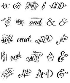 """myfonts: """" Do you like ampersands? How about a free set of hand-drawn ampersands and ornaments? Free font: Bookeyed Sadie Ampersands on MyFonts """" Hand Lettering Fonts, Creative Lettering, Handwriting Fonts, Brush Lettering, Penmanship, Lettering Tutorial, Monogram Fonts, Monogram Letters, Tattoo Lettering Styles"""