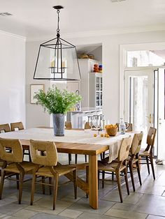 This custom dining-room cedar table can seat up to 16 -- that's one big dinner party!