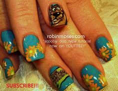 scooby doo nail art nails fun magical mystery bus psychedelic nailart www.youtube.com/watch?v=yxpc0EJvHyo