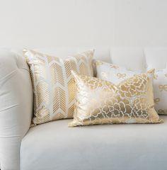gold fleur pillow http://caitlinwilsontextiles.com/products/gold-fleur-pillow?variant=626920009