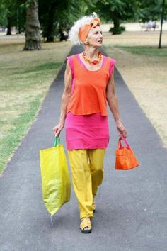 Ombre like fashion for older ladies