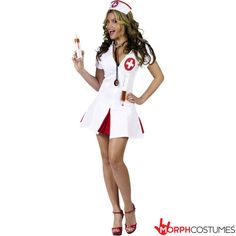 Womens Fancy Dress Costumes: If you have always wanted to channel your inner sexy nurse this extremely sexy Say Ahhh! Adult Costume is the perfect outfit. You will be the sexiest person at the party, so be warned, you will have a queue of people wanting to dance with you.