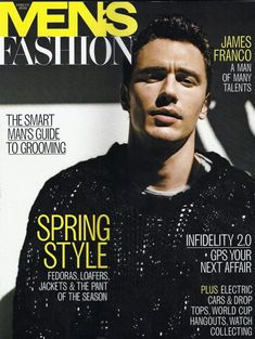 James Franco the Cover Model: From GQ to Vogue  image james franco mens fashion spring 2010 800x1064
