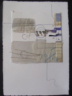 1895 by Blanca Serrano - stitching on paper #collage #mixed_media