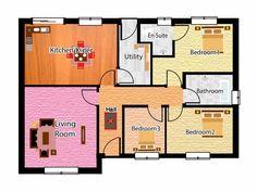 Family Bungalow Plans - The Highbridge - Houseplansdirect