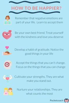 Try out these tips to help yourself be happier, more in control, and able to cope better with life's ups and downs. Negative Emotions, Ups And Downs, You Deserve, Mental Health, Anxiety, Love You, Treats, Learning, Happy