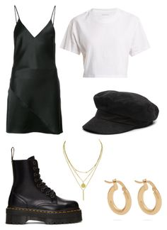 """""""LA"""" by fionameehan on Polyvore featuring Fleur du Mal, Hanes, Dr. Martens and Anissa Kermiche"""