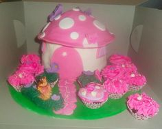 Pretty little Fairy Cake Cupcake Couture, Couture Cakes, Fairy Birthday Cake, Pretty Little, Treats, Homemade, Sweet Like Candy, Goodies, Hand Made