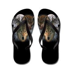 Lplpol Wolves Flip Flops for Kids and Adult Unisex Beach Sandals Pool Shoes Party Slippers *** Read more reviews of the product by visiting the link on the image.