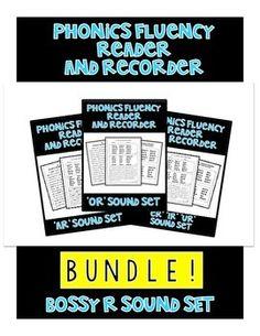 BOSSY R BUNDLE! - Phonics Fluency Assessment