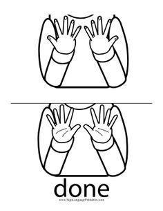 Help a baby finishing at mealtimes sign the word Sign Language Book, Sign Language Chart, Sign Language For Kids, Sign Language Phrases, Sign Language Interpreter, Sign Language Alphabet, British Sign Language, Learn Sign Language, Learning Languages Tips