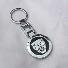 Jaguar Grill Badge Chrome Keyring by AutoArtMike on Etsy