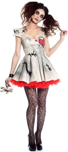 Sexy Scary Voodoo Doll Dalia Costume - Mr. Costumes