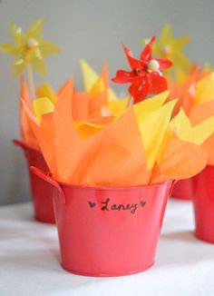 Fire favors at Clara's Dragon Party   Young House Love #dragonslovetacos #penguinkids #dragons #dragonslovetacos #party #toddler