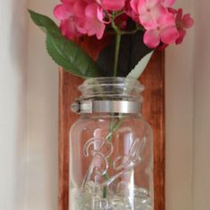 Mason Jar Sconce - how cute is this?!