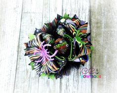 Halloween boutique stacked over the top hair bow https://www.facebook.com/media/set/?set=a.897934796912431.1073741887.664051576967422&type=3
