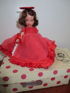 Vintage 1940s Nancy Ann Storybook Doll Queen of Hearts 157 w Box Painted Bisque | eBay...$21.99