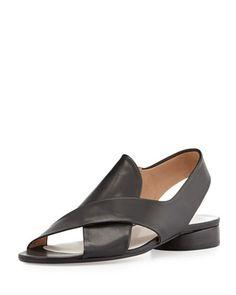 Leather Crisscross Slingback Sandal, Black by Maison Martin Margiela at Neiman Marcus.
