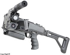 Israel Military Industries CornerShot Galil assault rifle. Modification of the standard Galil for urban combat.
