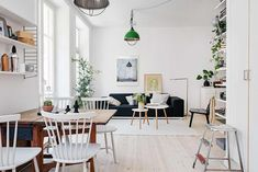 Perfectly Organized One-Room Scandinavian Crib With Bright Interiors - http://freshome.com/perfectly-organized-one-room-scandinavian-crib-with-bright-interiors/