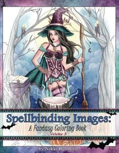 Spellbinding Images A Fantasy Coloring Book Volume 5 C