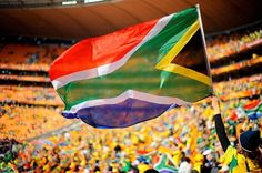 Patriotic football supporters - Bafana Bafana!