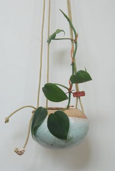 Handmade ceramic hanging vase - Shino Takeda