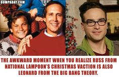 Whoa.  I didn't know this.  Russ is Leonard from The Big Bang Theory?
