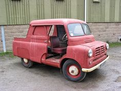 Old Brit Bedford van (my mate had one ages ago);  someone has chopped to make a Truck ... love it!