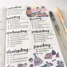 bullet journal- weekly spread