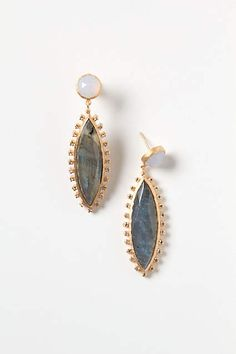 Jeweled Navette Drops - anthropologie.com