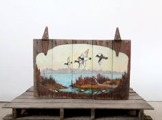 Vintage Bird Art on Barn Wood by 86home on Etsy, $530.00