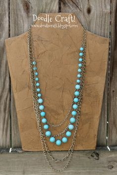 DIY Necklace Display Form. Perfect for the display and photographing of vintage crystals...