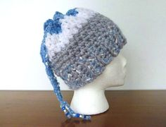 3 ways to wear this Messy Bun Hat, Convertible Ponytail Hat, Cowl Ear Warmer, Tie Top Slouchy Hat, Beanie,  Super Bulky, Beaded Drawstring by LaraineRoseHandiWorx on Etsy