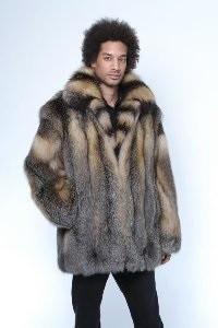 Men's Cross Fox Bomber Jacket - Style 1695 - Miller's Furs