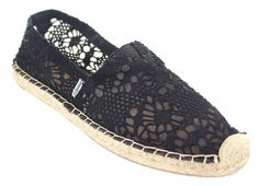 Joy & Mario Womens Rocky Point Espadrille Slip-On Flat Shoes Black