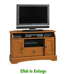 Amazon Com Sauder Orchard Hills Corner Tv Stand Furniture Decor