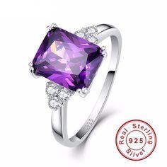 Vintage Amethyst Stone Silver Ring – uShopnow store