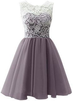 Dresstells Women's Short Tulle Prom Dress Dance Gown with Lace