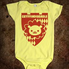 Someone have a baby right now! Gryffindorable - Films and Such - Skreened T-shirts, Organic Shirts, Hoodies, Kids Tees, Baby One-Pieces and Tote Bags Harry Potter Onesie, Cute Harry Potter, Cute Kids, Cute Babies, Ron Y Hermione, Movies Quotes, Baby Time, Having A Baby, Baby Fever