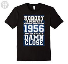 Men's Funny Gift For 61st Birthday. Born In 1956 T-Shirt. 3XL Black - Birthday shirts (*Amazon Partner-Link)